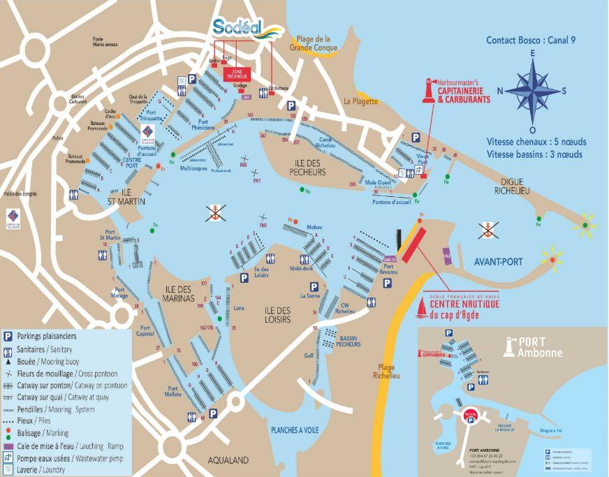 Plan du Port-portcapdagde